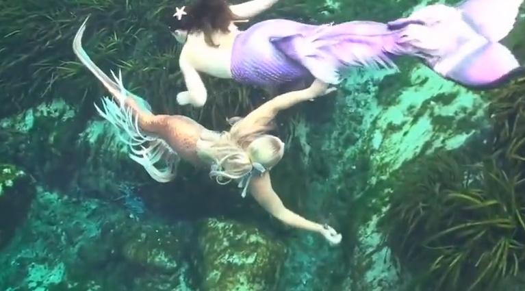 Русалки хорошо себя чувствуют в воде