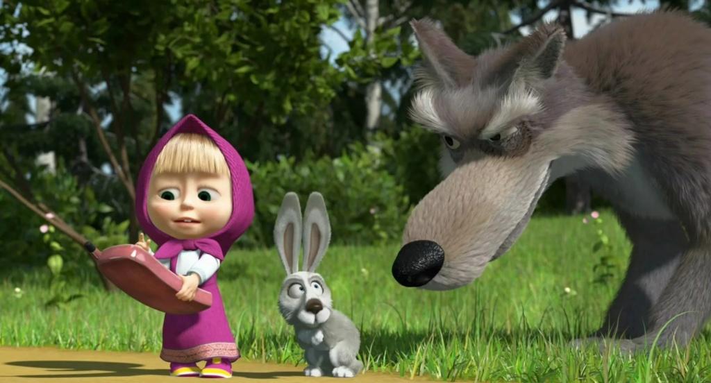 Волк, заяц и Маша
