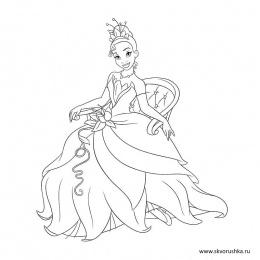 Раскраски для девочек «Принцессы в красивых платьях»